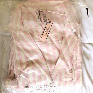 Victoria's Secret Pink Stripe Flannel Pajamas Set